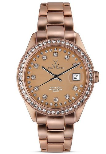 ToyWatch Toy Watch Metallic Stones Rose Gold Watch, 35mm