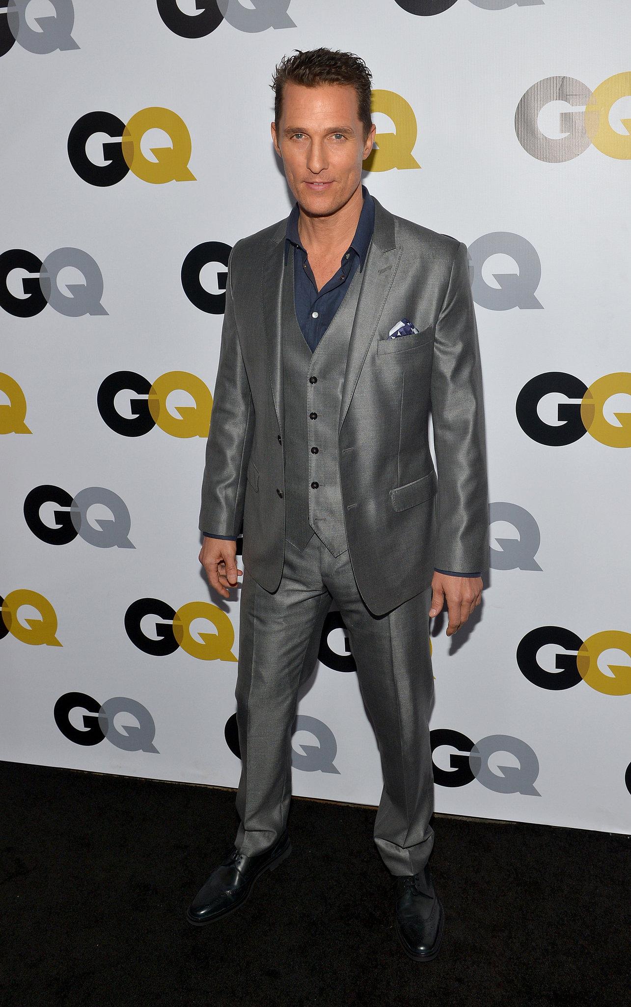 It's Raining Gentlemen at the GQ Party