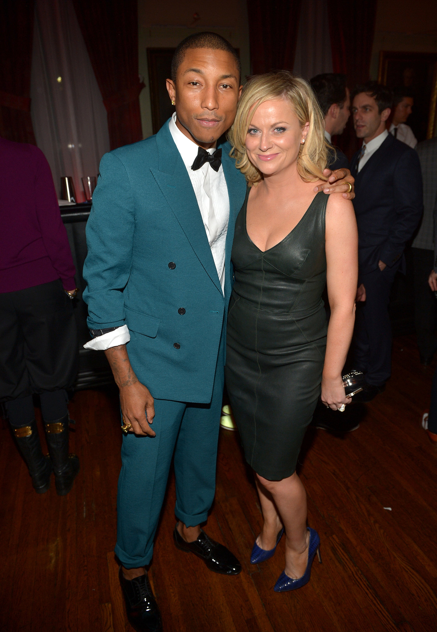 Pharrell Williams and Amy Poehler linked up inside the party.