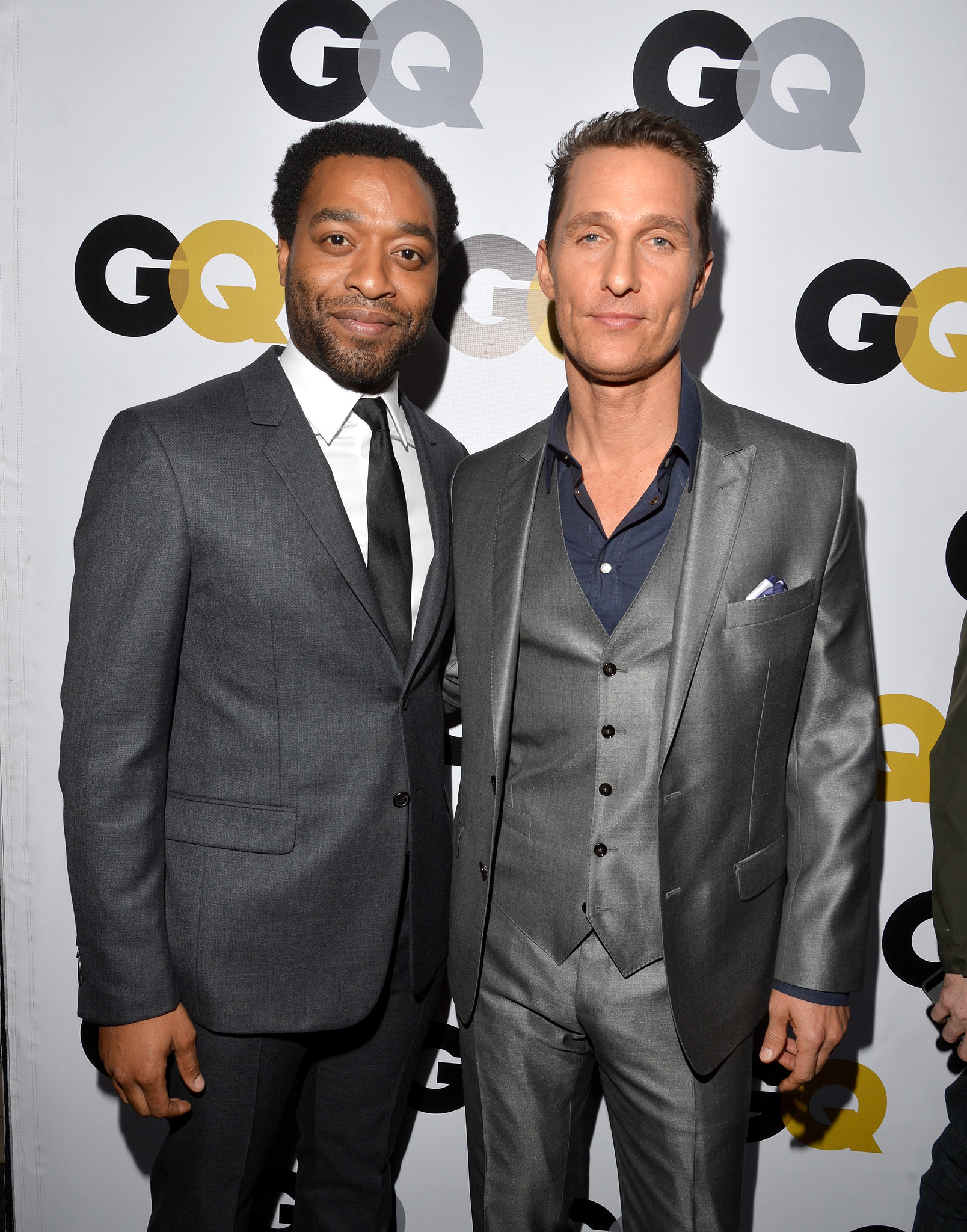 Chiwetel Ejiofor and Matthew McConaughey posed together at the GQ party.