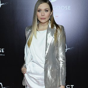 Elizabeth Olsen in Silver Blazer at Oldboy Showing