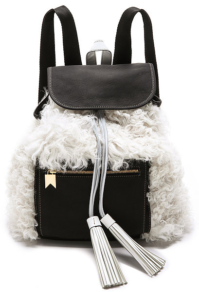 Meredith Wendell Shearling Backstroke Backpack ($995)