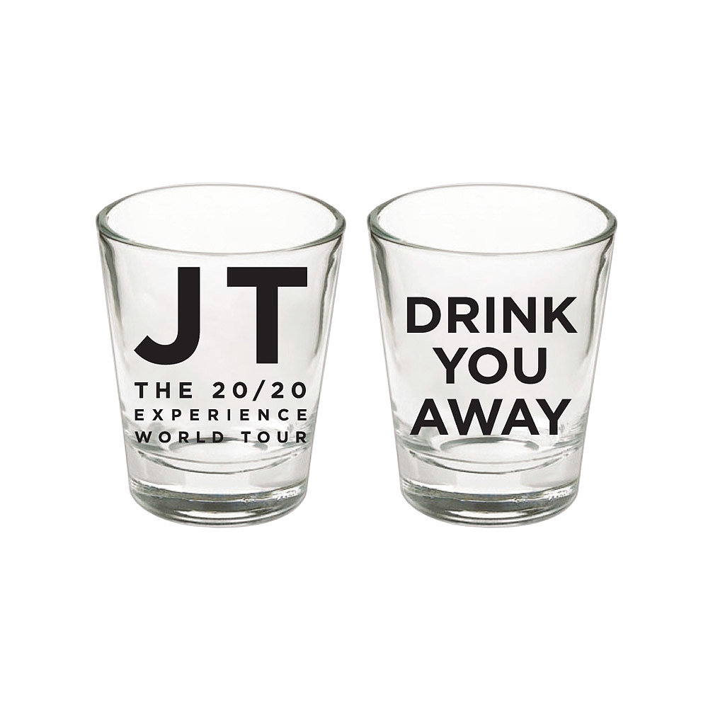 Justin Timberlake Drink You Away Shot Glass ($15)