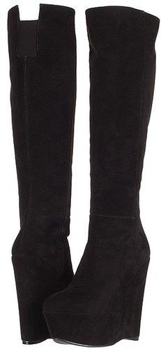 Stuart Weitzman - Vivid (Black Suede) - Footwear