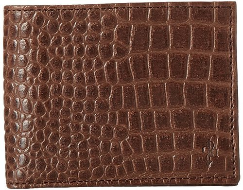Cole Haan - Slim Billfold Wallet (Chestnut Croc Print) - Bags and Luggage