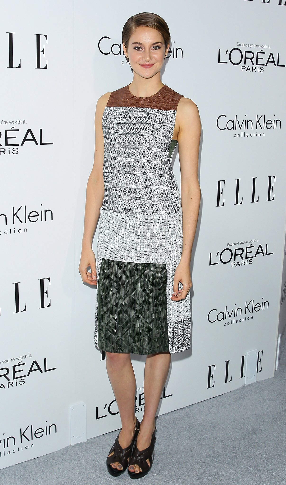 Shailene Woodley in Colorblock Calvin Klein at the 2013 Elle Women in Hollywood Event