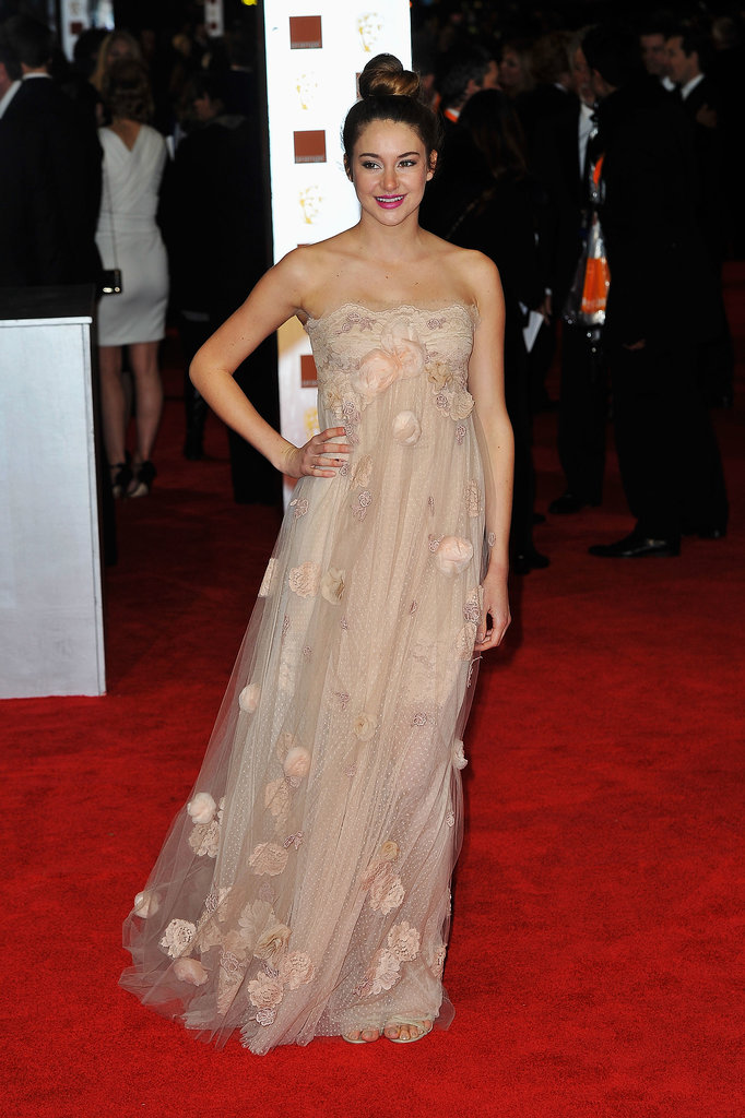 Shailene Woodley in Tulle Gown at the 2012 Orange British Academy Film Awards