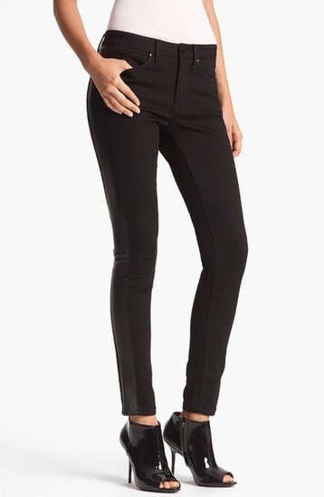 Burberry London Skinny Leather Panel Jeans