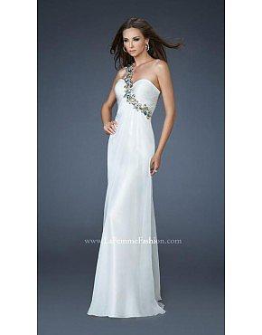 La Femme Prom Dresses 18673 White