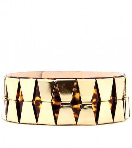 Balmain EMBELLISHED PATENT LEATHER BELT