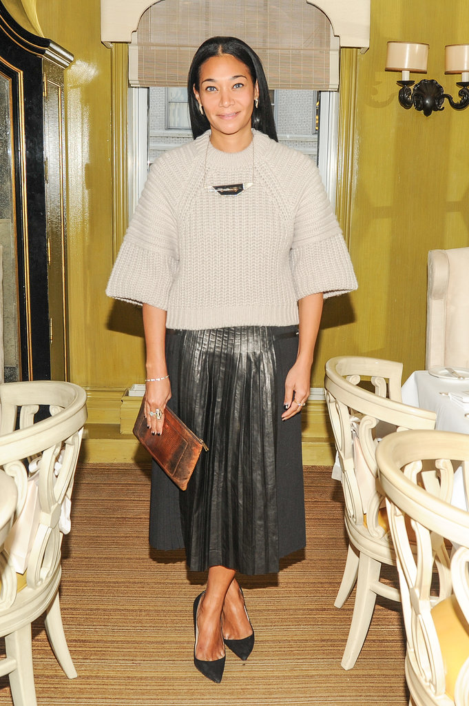 Monique Péan at the Jimmy Choo luncheon.