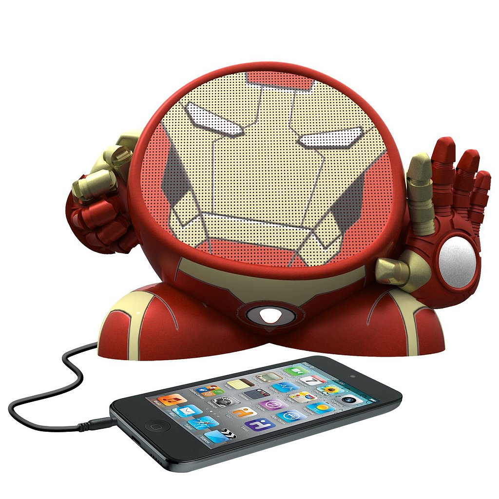 For 9-Year-Olds: eKids Marvel Avengers Iron Man Rechargeable Character Speaker