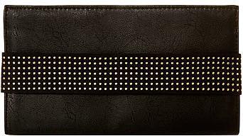 Black embellished clutch
