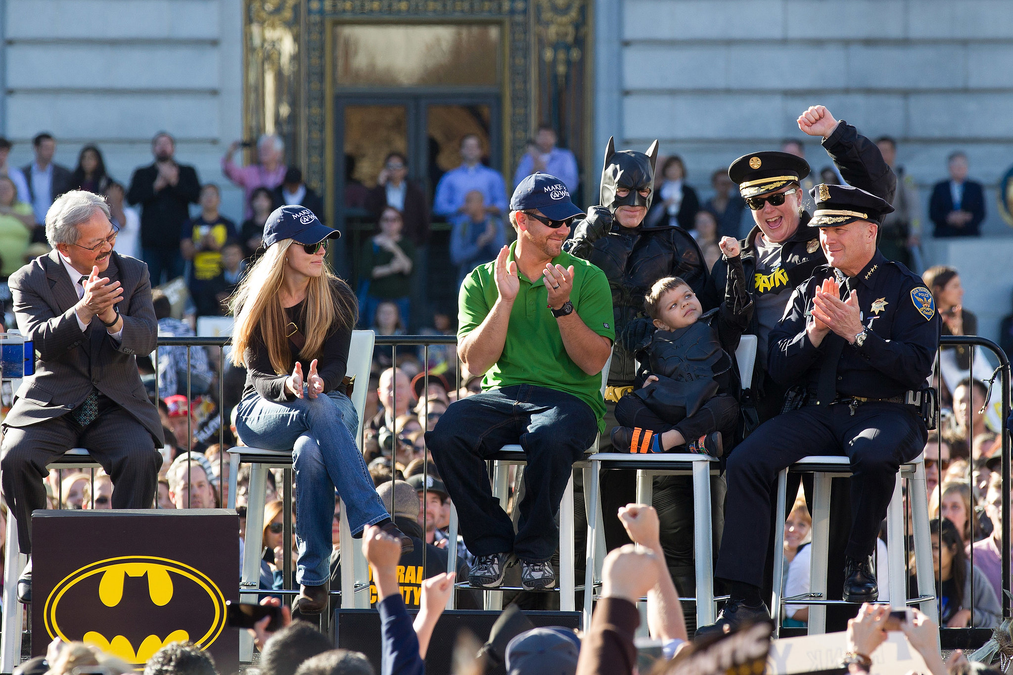 San Francisco's police chief celebrated with Batkid.