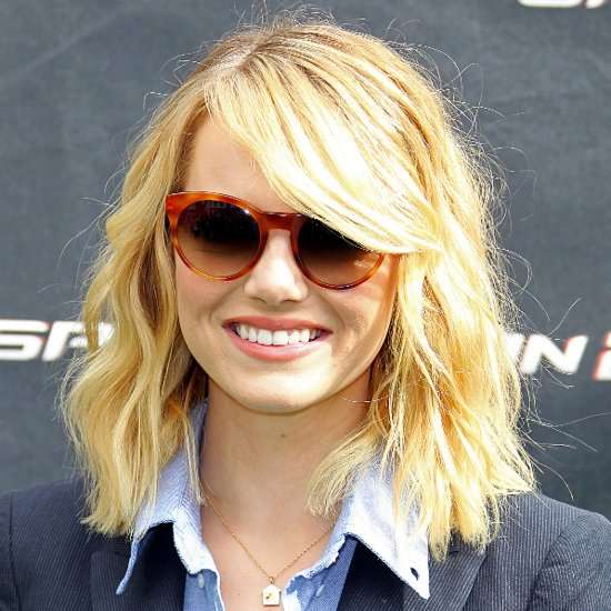 Emma Stone at The Amazing Spider-Man 2 Photocall
