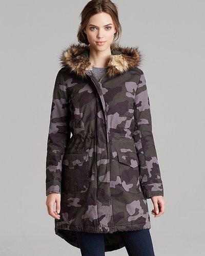 BB Dakota Coat - Camo Printed Cotton Twill