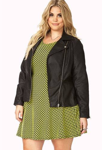 FOREVER 21+ Rock n' Roll Faux Leather Jacket