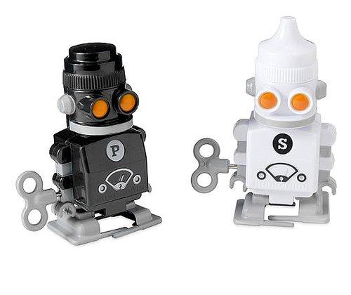 Wind-Up Salt and Pepper Robots