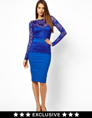 Tempest Billie Pencil Dress In Lace