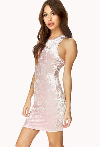 FOREVER 21 Standout Velveteen Bodycon Dress