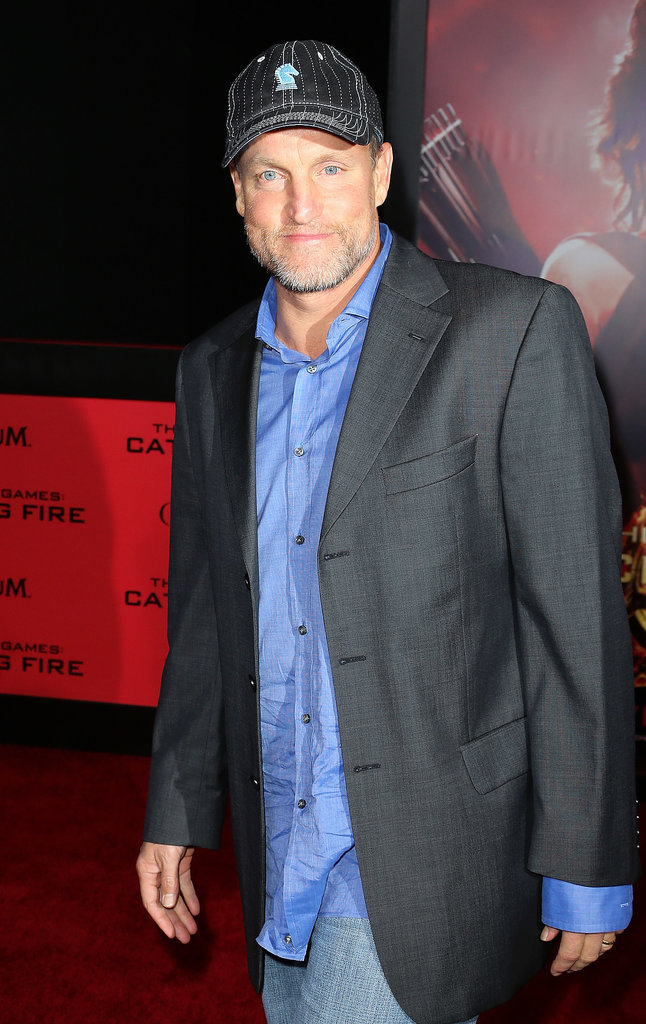 Woody Harrelson went casual with a baseball cap.