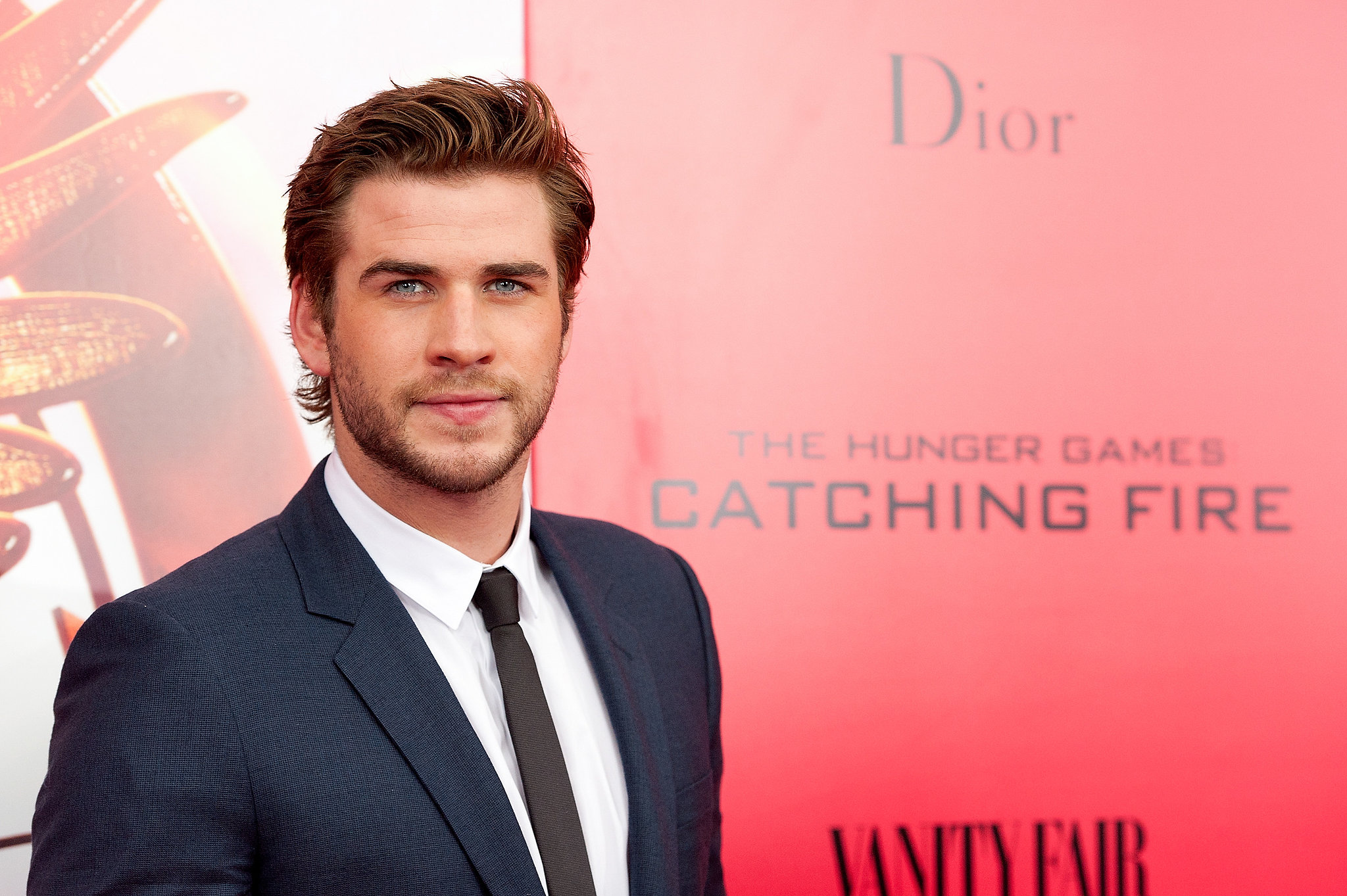 Liam Hemsworth looked handsome as usual on the red carpet.