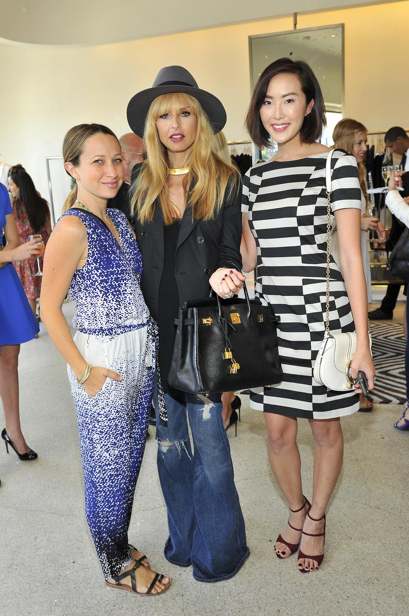 Jennifer Meyer, Rachel Zoe, and Chriselle Lim at Diane von Furstenberg's tea and shopping event to benefit LACMA.  Source: Donato Sardella