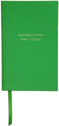 New year, new notebook!  The luxurious lambskin leather-bound Smythson Inspirations and Ideas notebook ($80) will help anyone look forward to confronting her to-do list. — Annie Gabillet, news editor