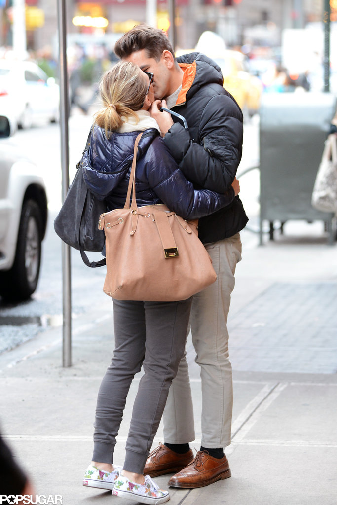 Scarlett embraced Romain outside of their NYC hotel in December 2012, less than a year before their engagement.