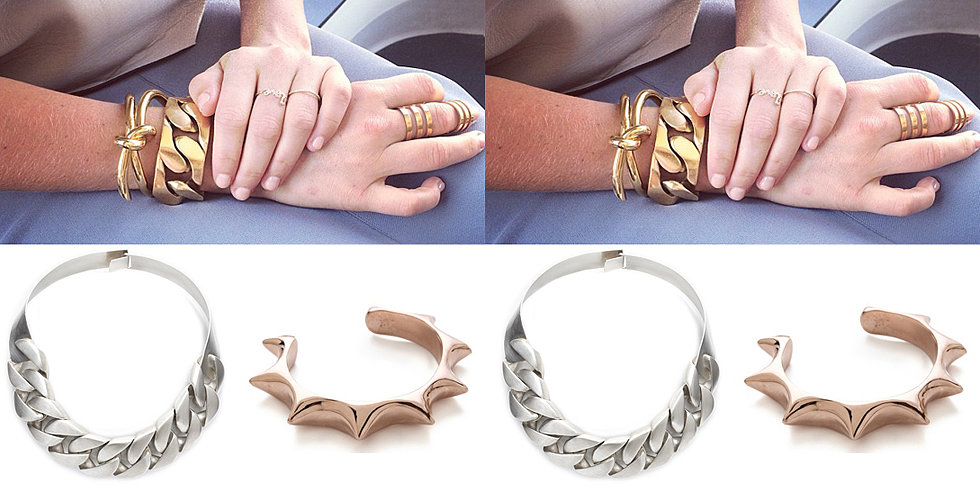 Accessory of the Week: Chunky Metals, à la Lara Bingle