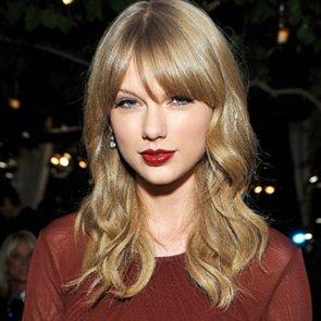 Taylor Swift's Dark Red Lipstick 2013