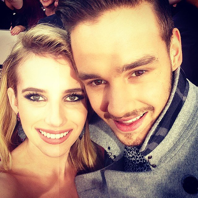 Emma Roberts snapped a picture with Liam Payne on the red carpet. Source: Instagram user emmaroberts6
