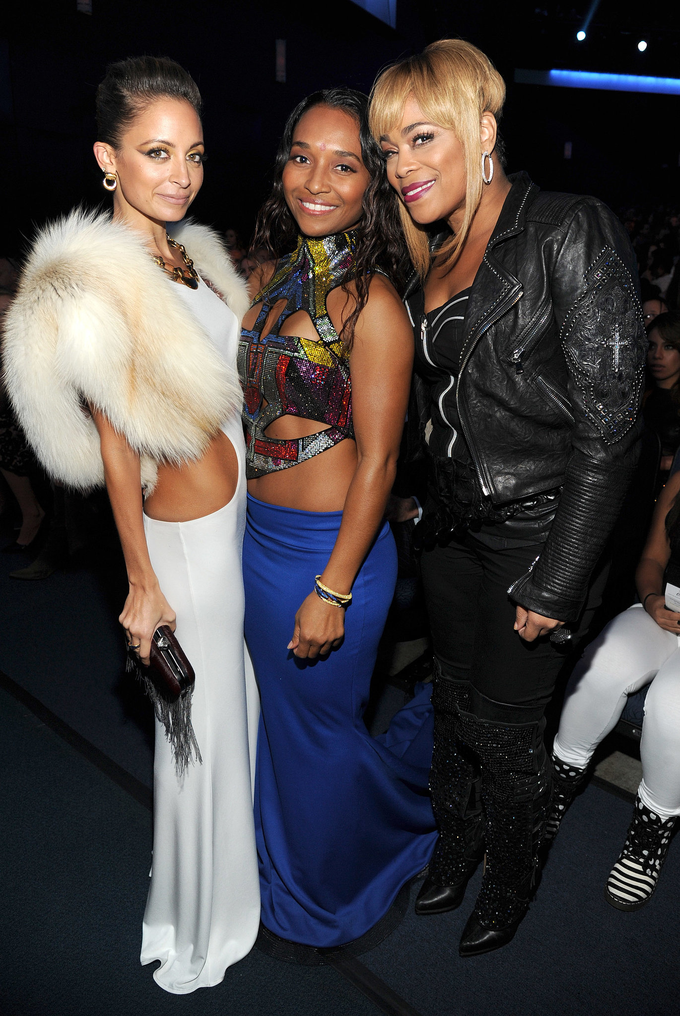 Nicole Richie caught up with TLC's Chilli and T-Boz at the 2013 American Music Awards.