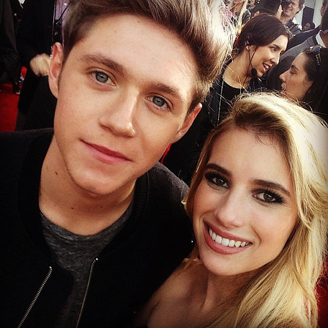 Emma Roberts posed with One Direction's Niall Horan. Source: Instagram user emmaroberts6
