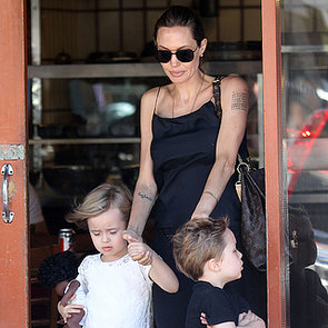 Angelina Jolie With Her Twins in Sydney