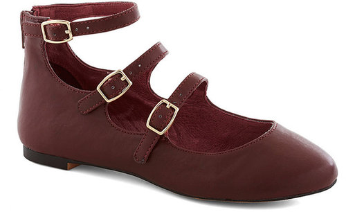Betsey Johnson Make Your Denmark Flat in Oxblood