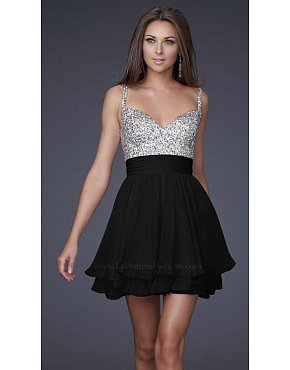 La Femme 16813 Black Dresses for Homecoming