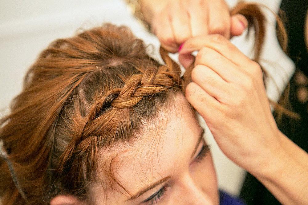The braid should pop along your hairline. Source: Caroline Voagen Nelson