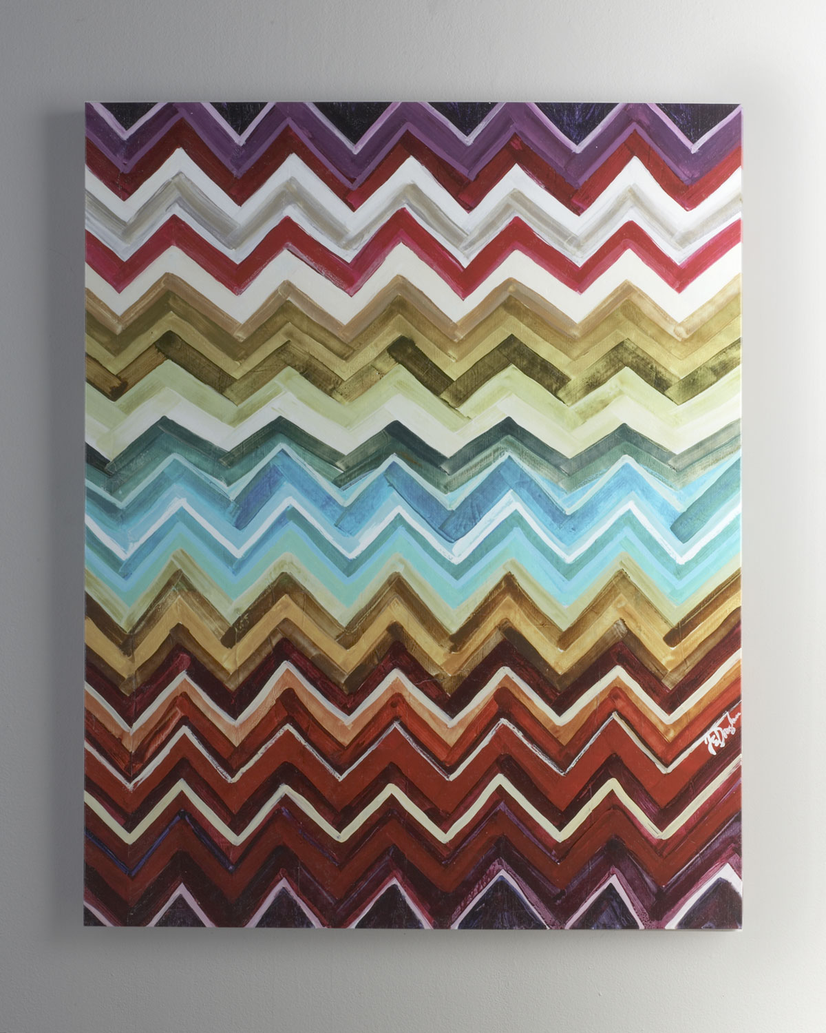"I'm constantly on the hunt for modern art that fits with my aesthetic, and the Neiman Marcus ""Chevron"" Giclee ($224, originally $345) is right up my alley. It's bright and colorful without being too over-the-top, and it would fit in virtually any room. — Maggie Pehanick, assistant editor"