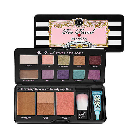 To celebrate Too Faced and Sephora's 15th anniversary together, the duo has teamed up to create the Too Faced Loves Sephora 15 Years of Beauty Palette ($39, originally $52). Ten shadows, a blush, and a cluster of bronzers are all tucked alongside a powder brush and eye primer, creating an all-around perfect collection.