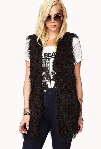 FOREVER 21 City-Chic Faux Fur Vest