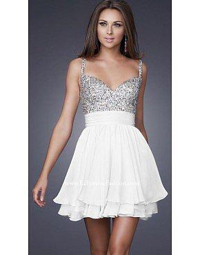 La Femme 16813 White Dresses for Homecoming