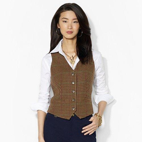 Ralph Lauren Houndstooth Wool Vest