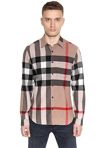 Cotton Flannel Maxi House Check Shirt