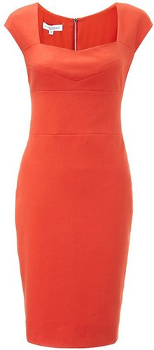 Narciso Rodriguez Coral Cotton Pencil Dress