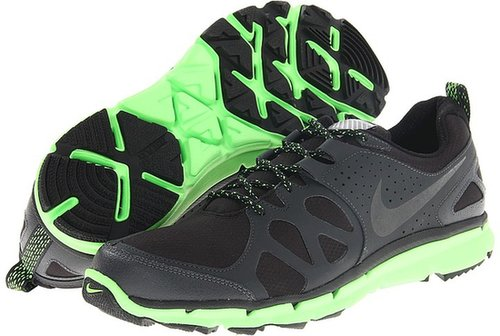 Nike - Flex Trail Shield (Black/Anthracite/Electric Green/Black) - Footwear