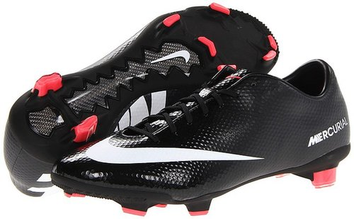 Nike - Mercurial Veloce FG (Black/Dark Charcoal/Atomic Red/White) - Footwear