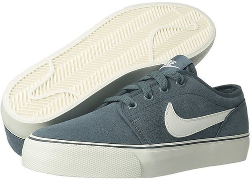 Nike - Toki Low Leather (Armory Slate/White) - Footwear
