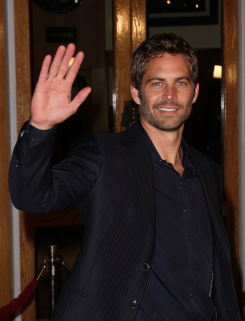 Paul waved to fans as he arrived at the LA premiere of Fast & Furious in March 2009.