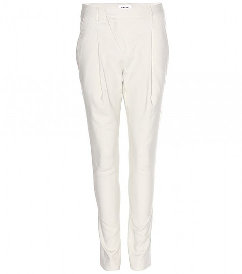 Helmut Lang Angle brushed-woven trousers